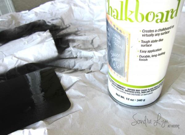 Door Wreath- Chalkboard Paint- Sondra Lyn at Home