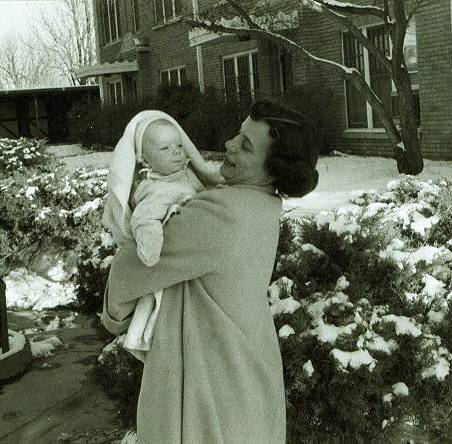 mom & me in snow