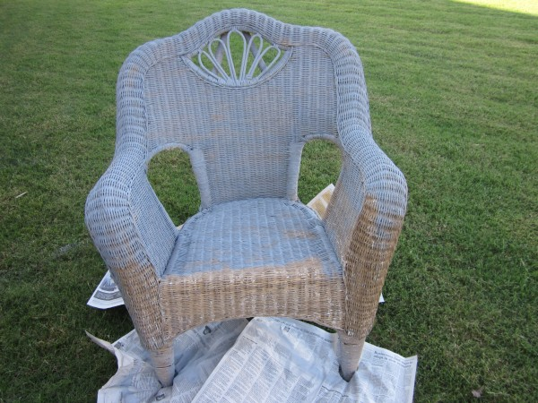 Wicker Chair Redo- Sondra Lyn at Home