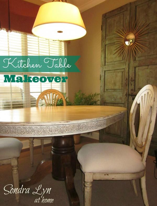Kitchen Table Redo 1