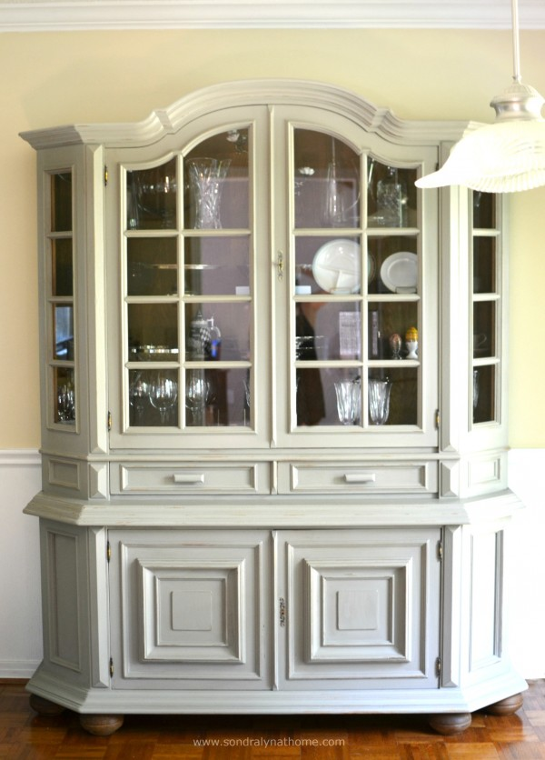 China Cabinet Chalk Paint Makeover-- Sondra Lyn at Home