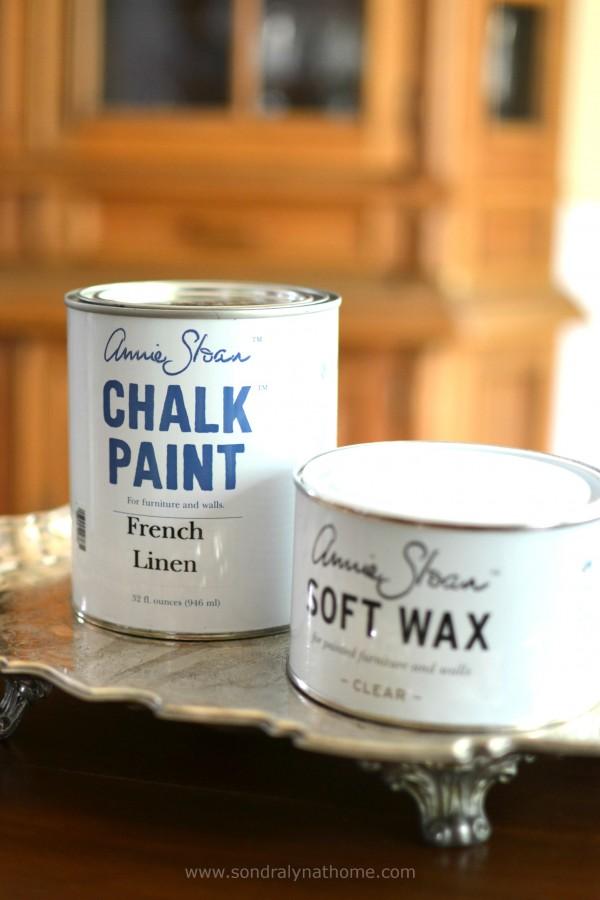 China Cabinet Chalk Paint Redo- French Linen - Sondra Lyn at Home