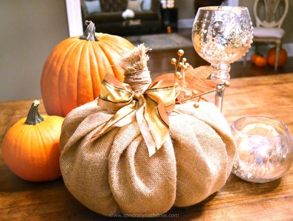 How to Make a Burlap-Pumpkin - Sondra Lyn at Home