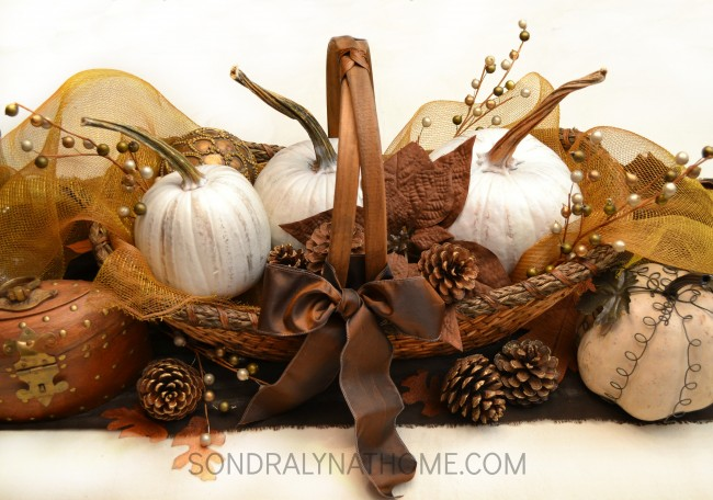 Rustic Glam Fall Centerpiece - Sondra Lyn at Home.com