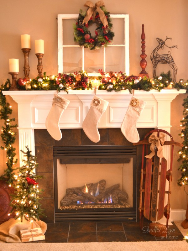 Christmas Home Tour 2013- Nostalgic Mantel- Sondra Lyn at Home
