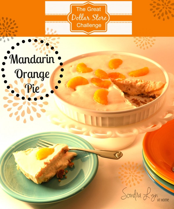 Mandarin-Orange Pie-  Sondra Lyn at Home