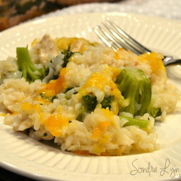Easy Chicken Broccoli Divan with Rice
