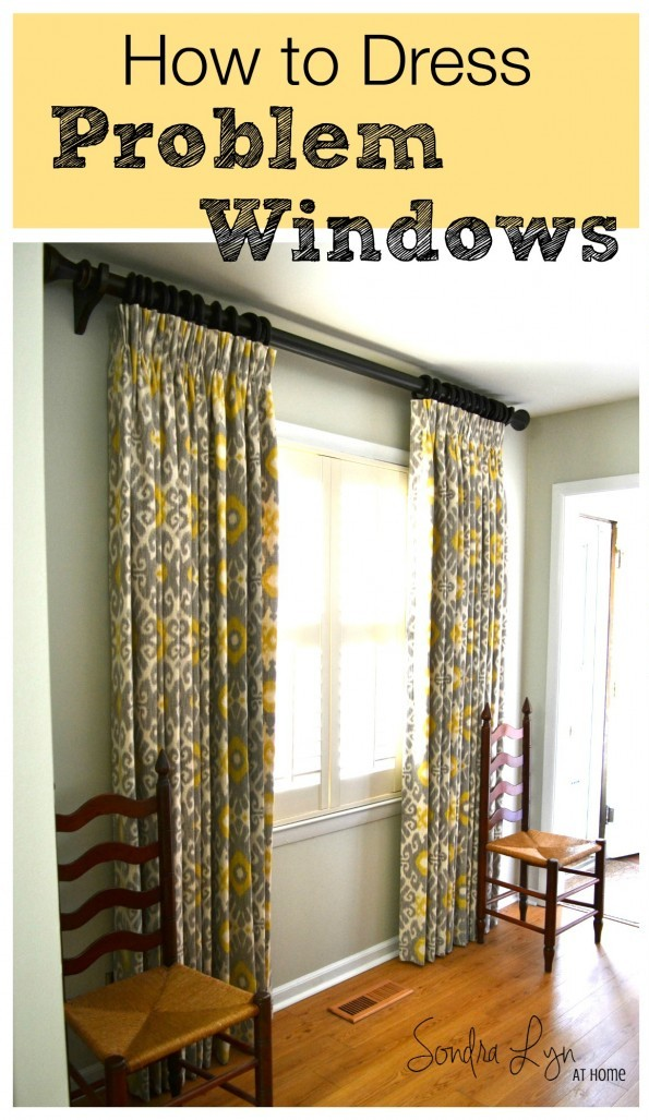 How to Dress Problem Windows- Sondra Lyn at Home