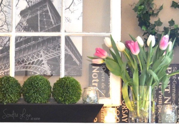 SONDRA LYN AT HOME - SPRING MANTEL