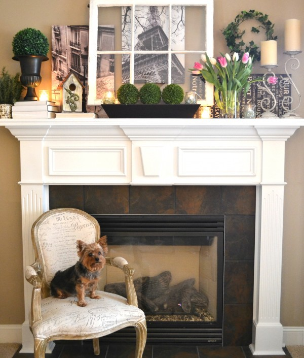 'Springtime in Paris' Mantel -- Sondra Lyn at Home