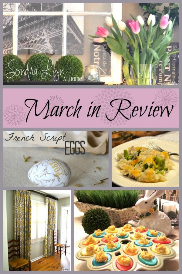 March in Review Collage - Sondra Lyn at Home