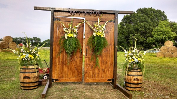The Bride makes a Grand Entrance through these Double Doors--A Country Wedding-- Sondra Lyn at Home