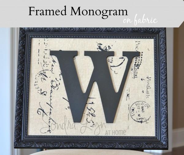 Framed Monogram on Fabric- Sondra Lyn at Home