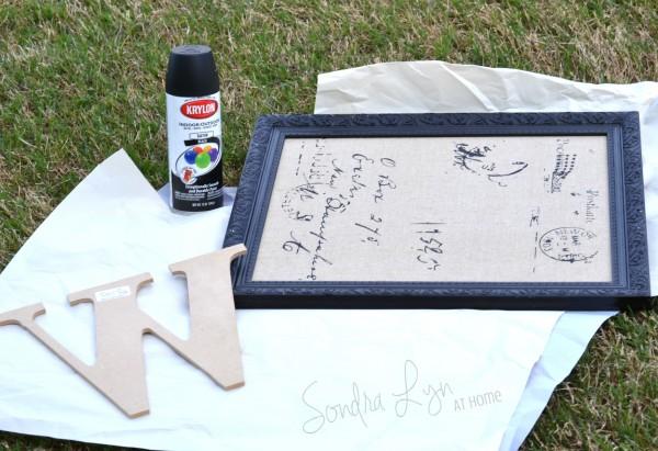 Framed Monogram supplies- Sondra Lyn at Home