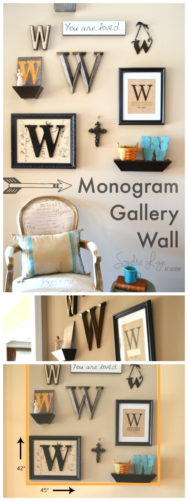 How to construct a Monogram Gallery Wall - Sondra Lyn at Home