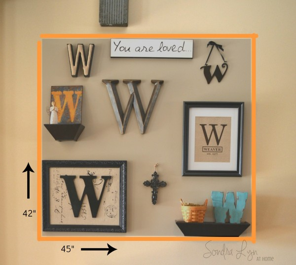 Monogram Gallery Wall- Area - Sondra Lyn at Home