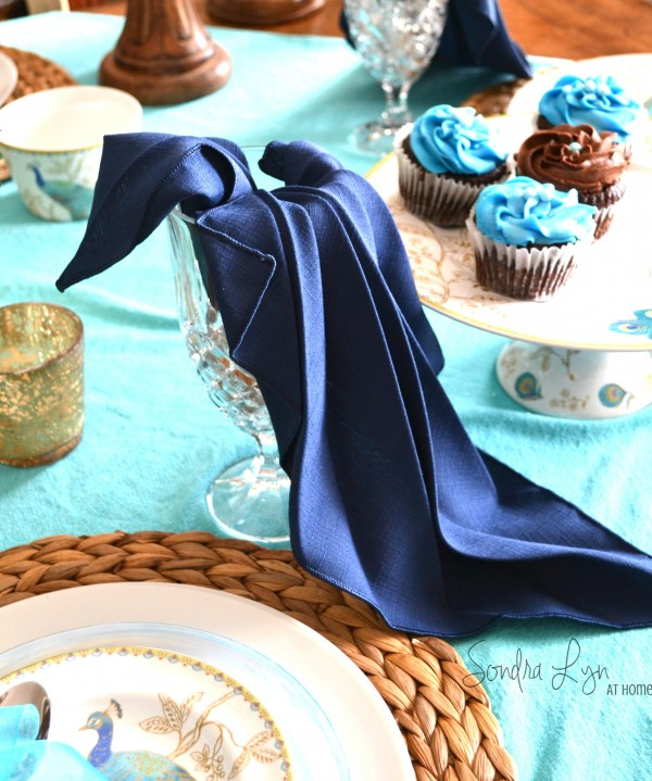 Peacock Napkin Fold- Sondra Lyn at Home