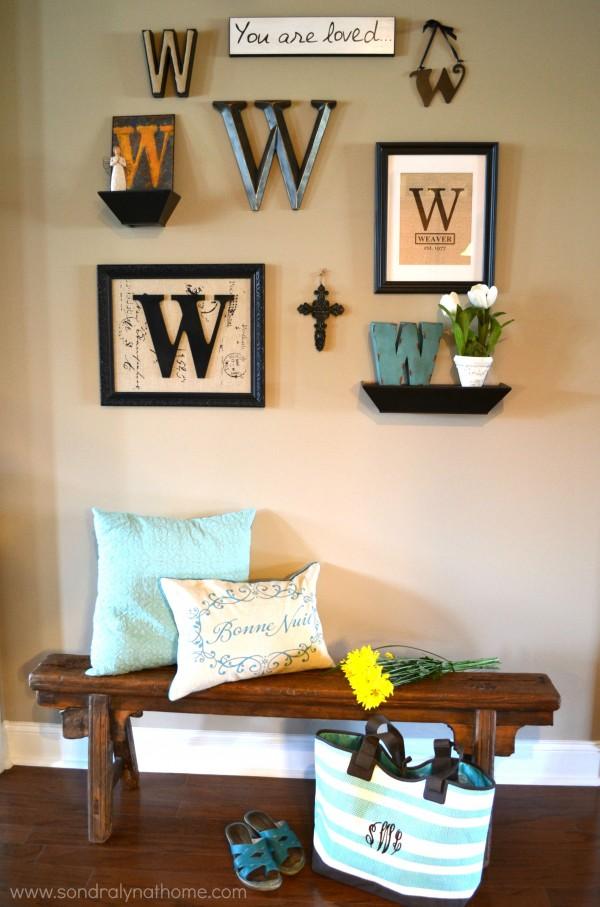 Summer Home Monogram Gallery Wall- Sondra Lyn at Home
