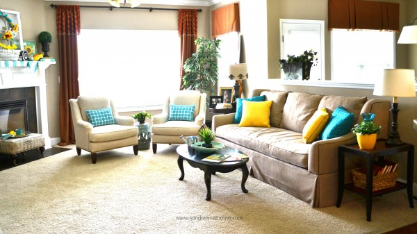 Summer Home Tour Family Room- -   Sondra Lyn at Home
