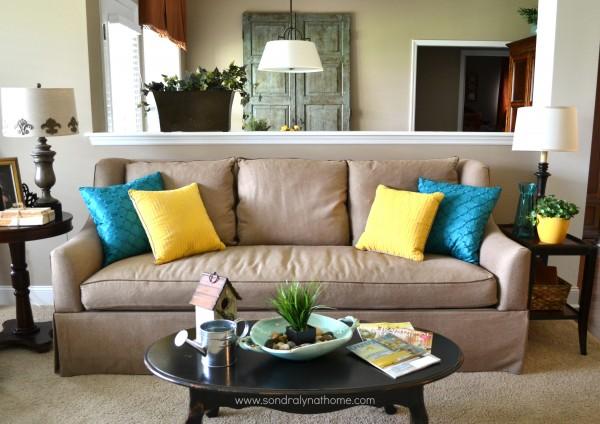 Summer Home Tour- sofa- Sondra Lyn at Home