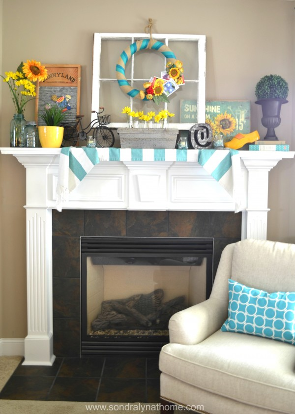Summer Mantel 2014--Sondra Lyn at Home