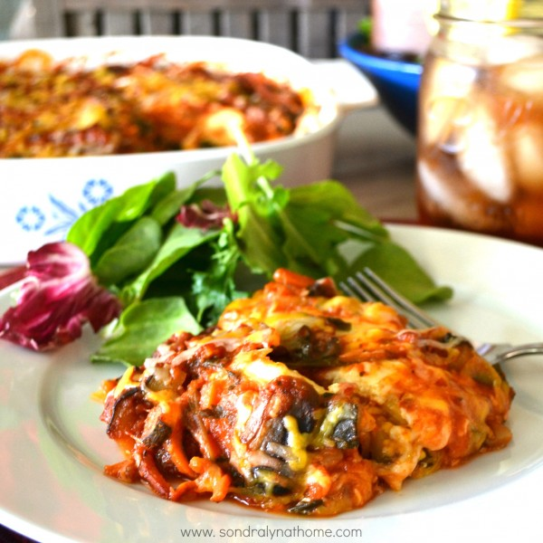 Veggie Lasagna with Oregano Oil --- Sondra Lyn at Home