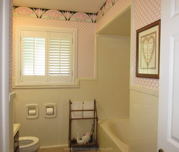 Glam Hall Bath-Before- Sondra Lyn at Home