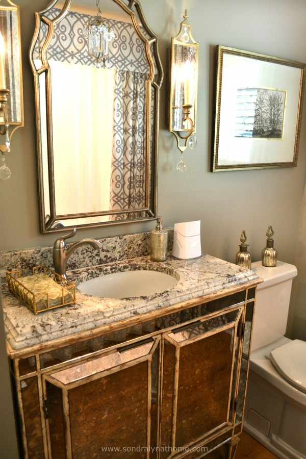 Glam Hall Bath -- Sondra Lyn at Home