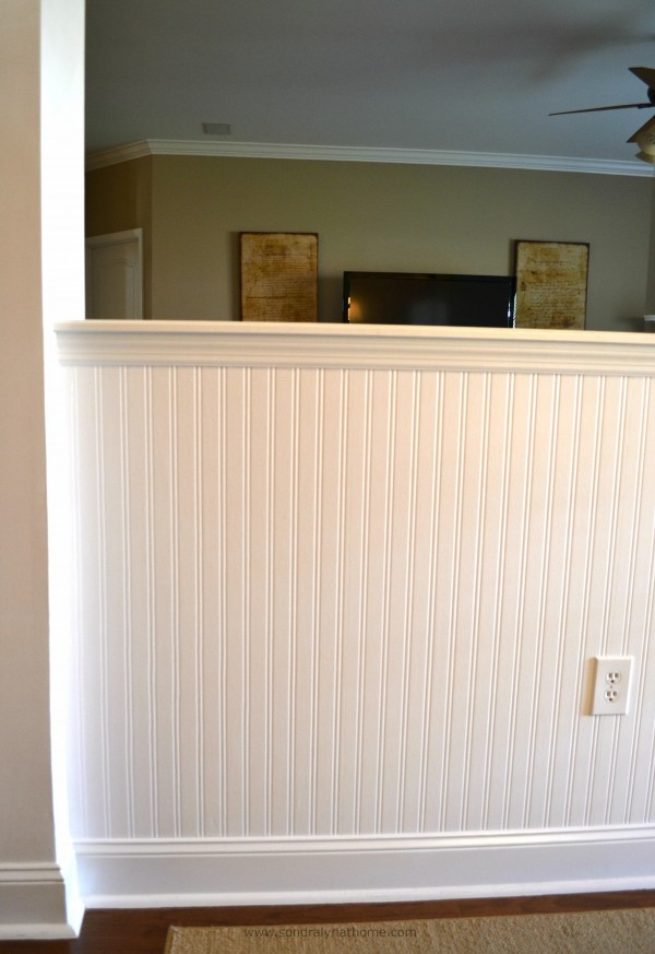 how to put beadboard on walls