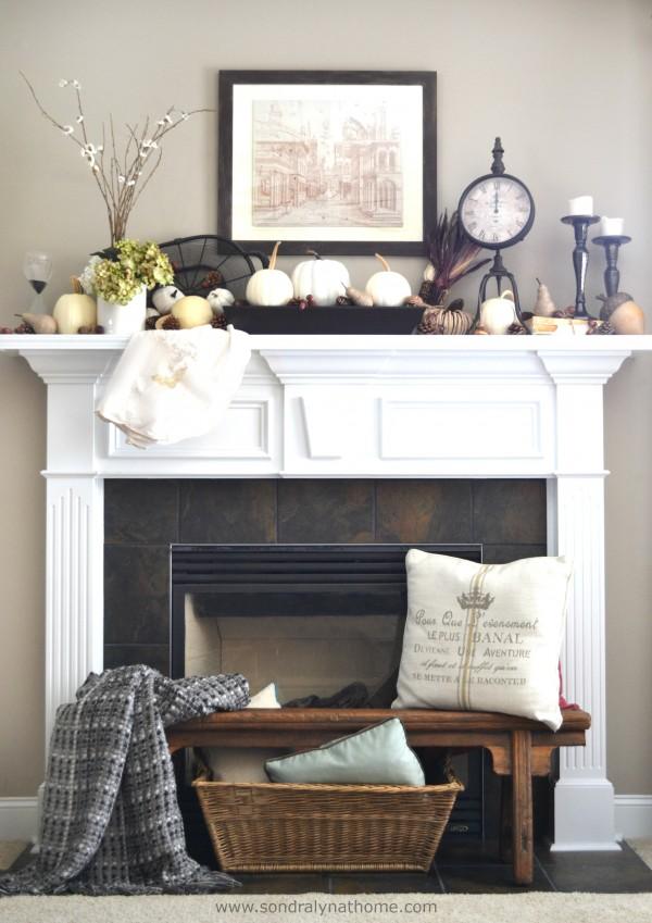 Fall Mantel 2014-- Sondra Lyn at Home