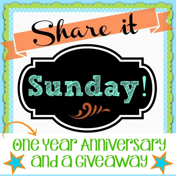 One Year Anniversary Share It Sunday Banner
