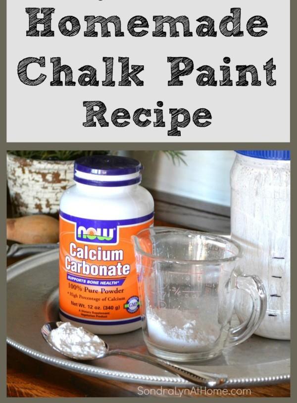 Chalk Paint Recipe-- Sondra Lyn at Home-w
