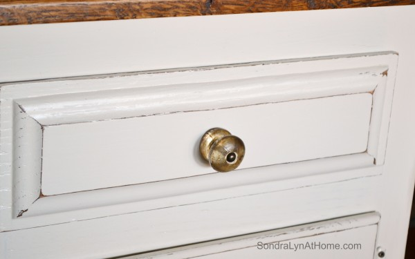 Chalk Painted Hutch - Distressing - Sondra Lyn at Home-w