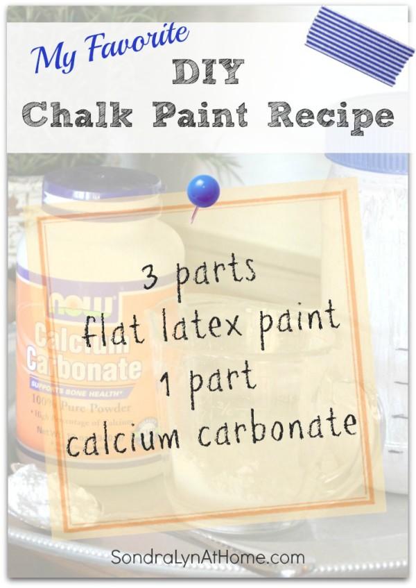 DIY Chalk Paint Recipe - Sondra Lyn at Home-w