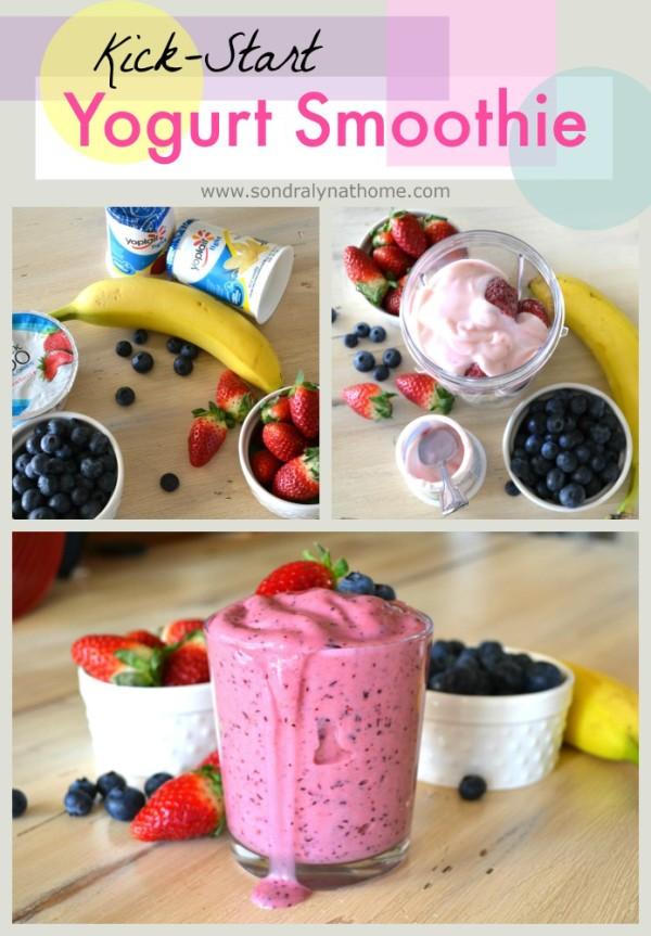 Yogurt Smoothie Pinnable- Sondra Lyn at Home
