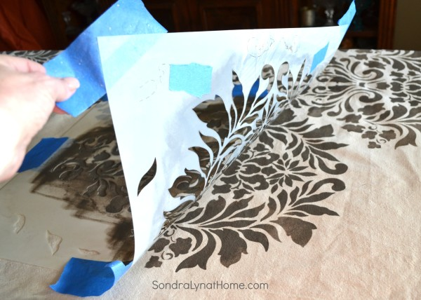 The Stenciling Process - Sondra Lyn at Home