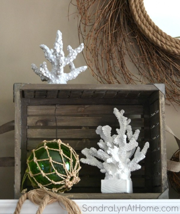 Coastal Summer Mantel --- Sondra Lyn at Home-