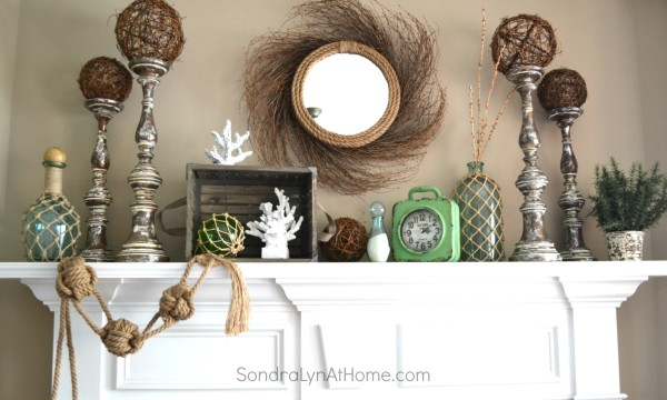 Coastal Summer Mantel --- Sondra Lyn at Home