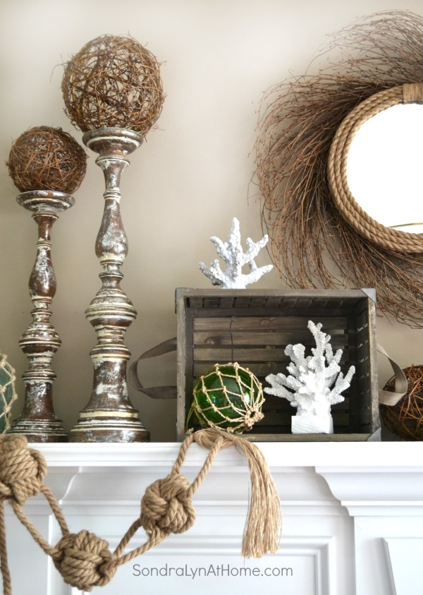 Coastal Summer Mantel - Sondra Lyn at Home