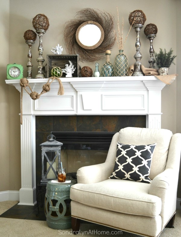 Coastal Summer Mantel --  Sondra Lyn at Home