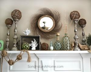 Coastal Vibe Summer Mantel - Sondra Lyn at Home
