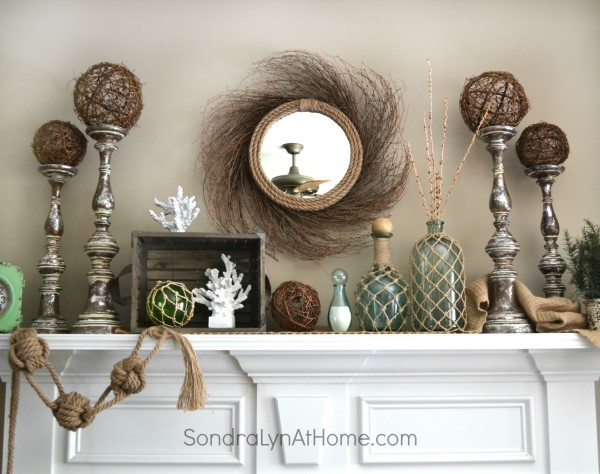 Coastal Vibe Summer Mantel - Sondra Lyn at Home