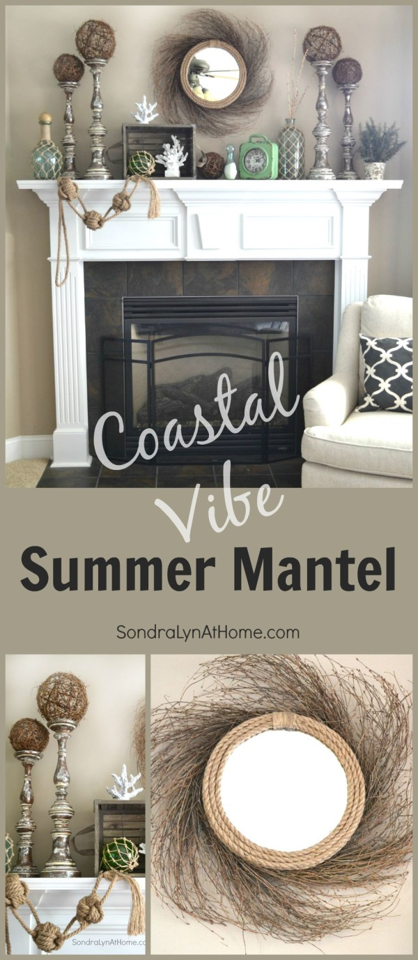 Coastal Vibe Summer Mantel - SondraLyn at Home