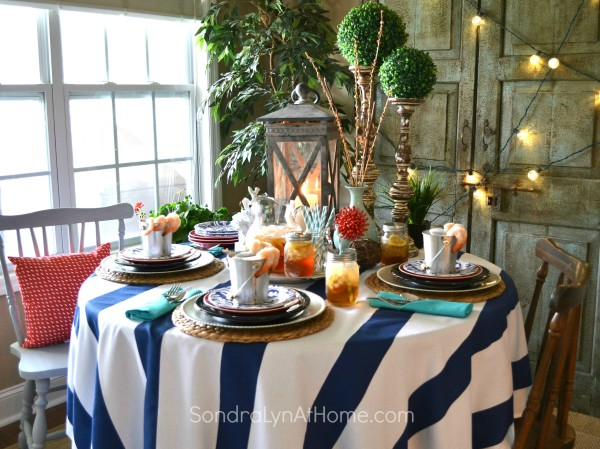 Coastal Vibe Tablescape- Sondra Lyn at Home