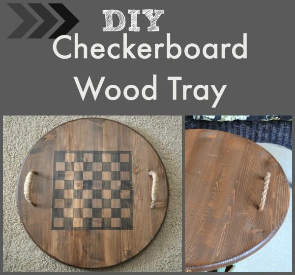 DIY Checkerboard Wood Tray -Sondra-Lyn-at-Home