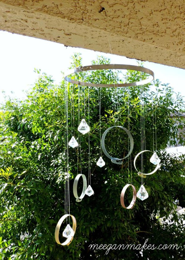 DIY Clamp and Crystal Sun Catcher