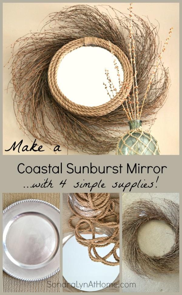 Make a Coastal Sunburst Mirror -- Sondra Lyn at Home