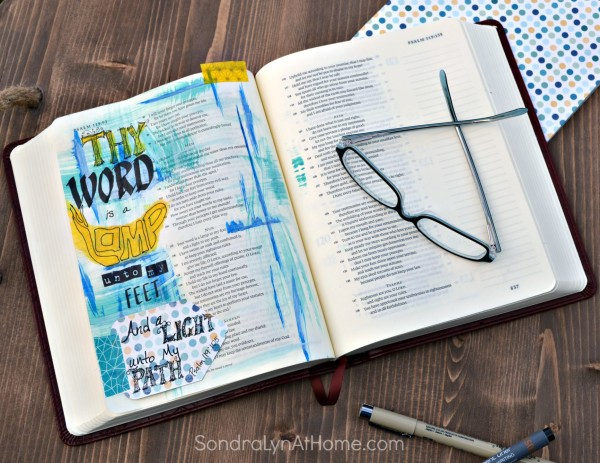 Bible Journal --- Thy Word page - Sondra Lyn at Home.com