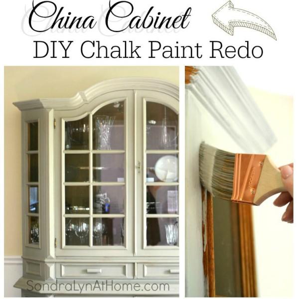 China Cabinet Chalk Paint thumbnail - Sondra Lyn at Home