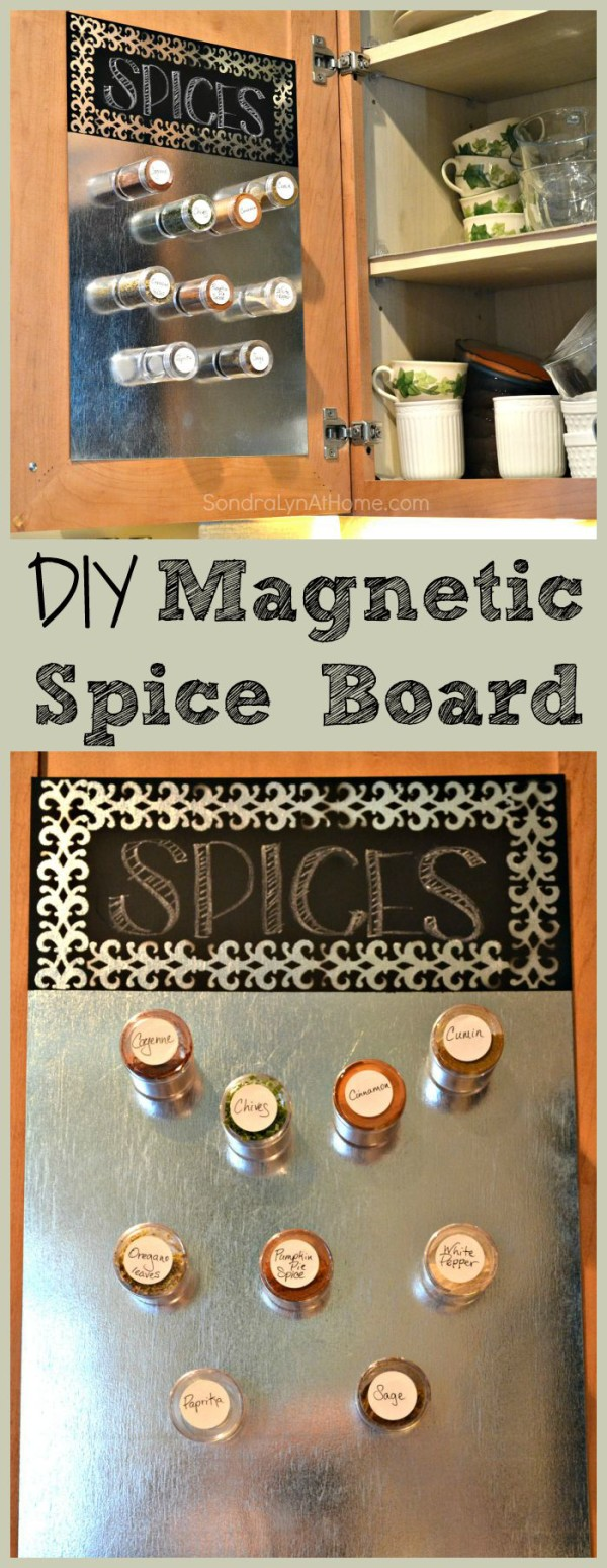 DIY Magnetic Spice Board - - - Sondra Lyn at Home